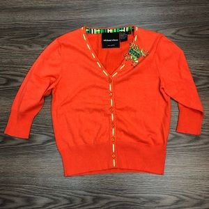 Michael Simon Frog Cardigan Size Small